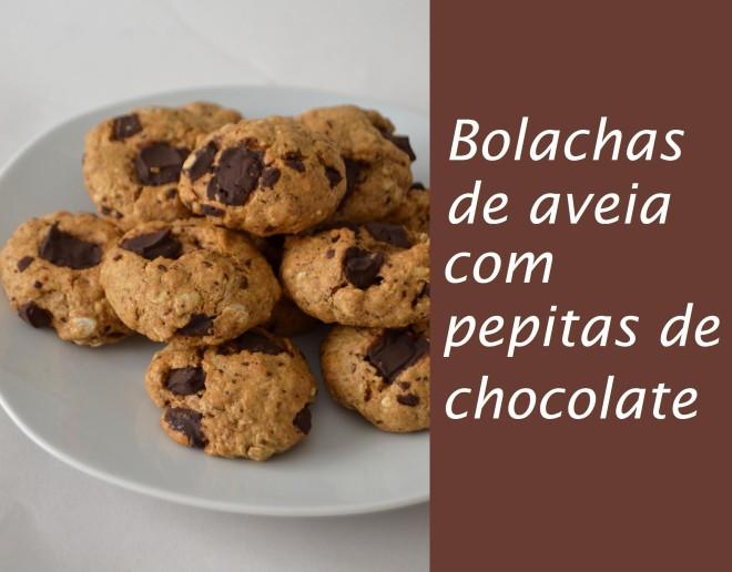 Bolachas de aveia com pepitas de chocolate