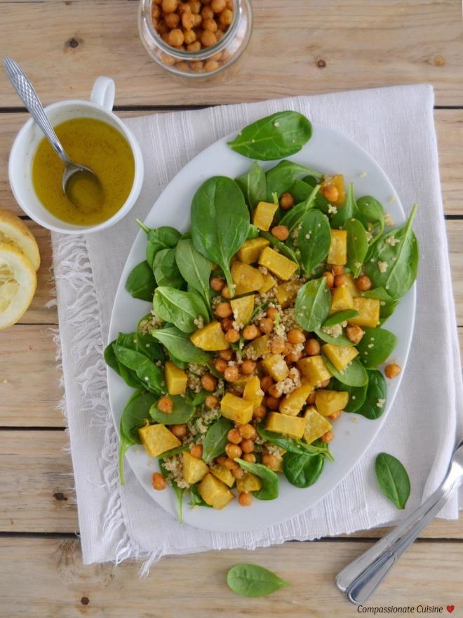Roasted chickpea sweet potato salad 1