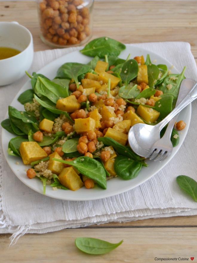 Roasted chickpea sweet potato salad 3
