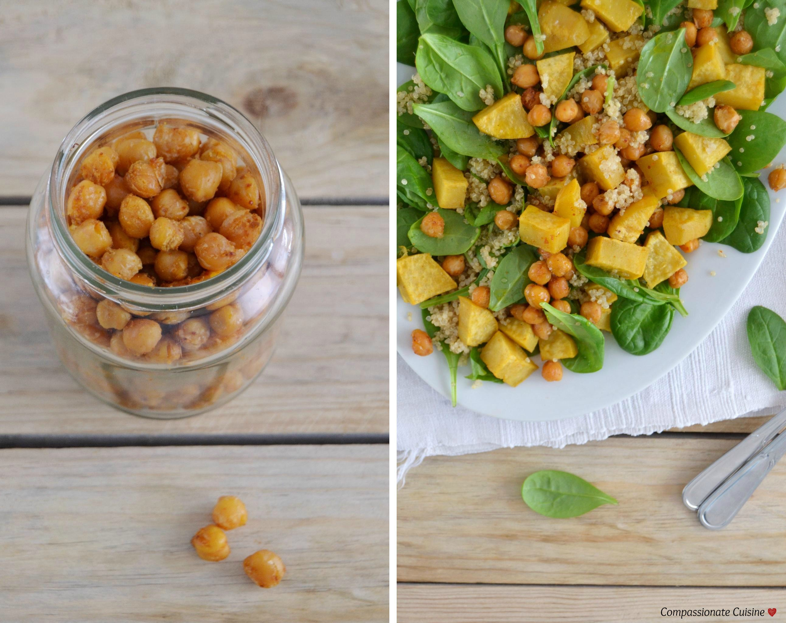 Roasted chickpea sweet potato salad