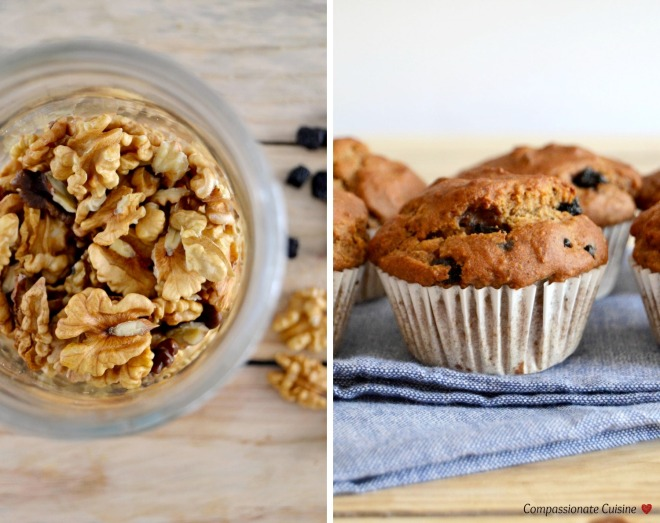 Walnut dried blueberry muffins (sugar free!)