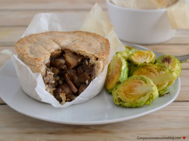 mushroom lentil pie
