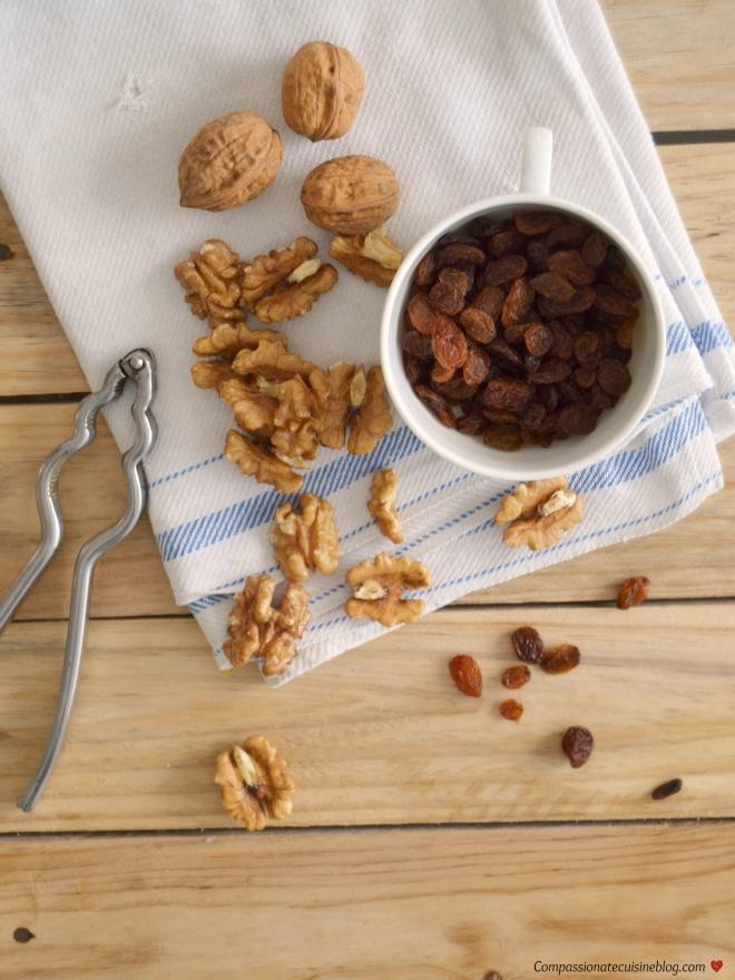 Walnuts and raisins