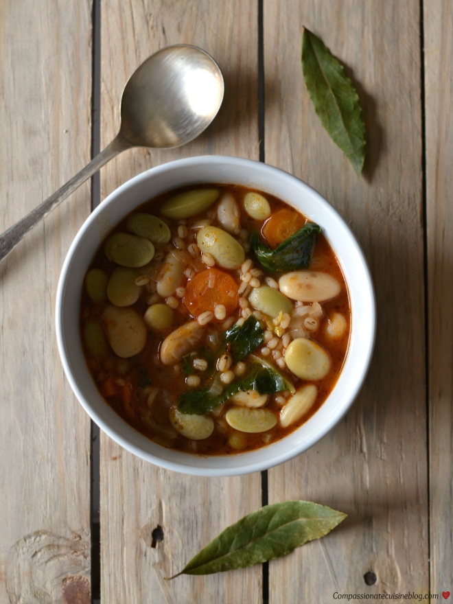 Lima bean stew with barley and kale2