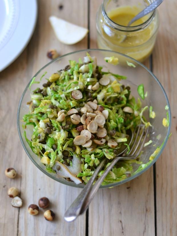 Brussel sprout lentil salad