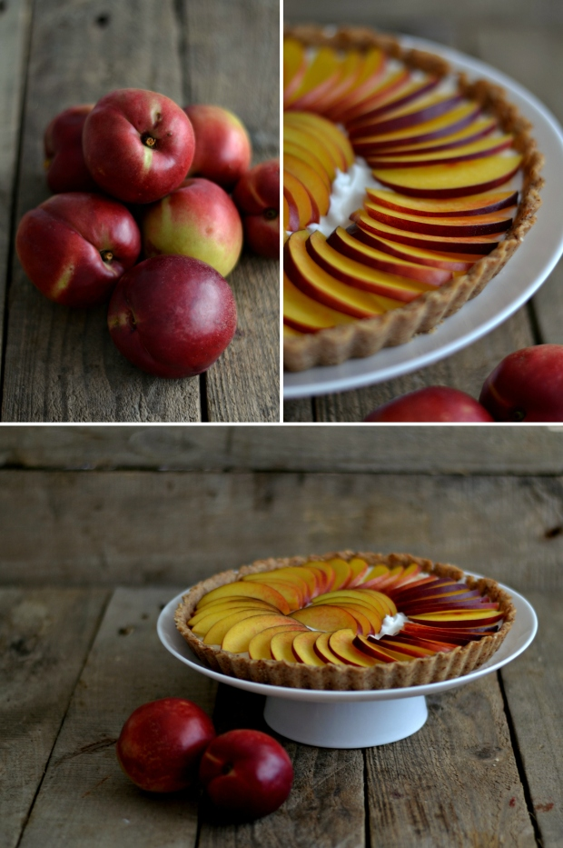 coconut whipped cream peach tart2