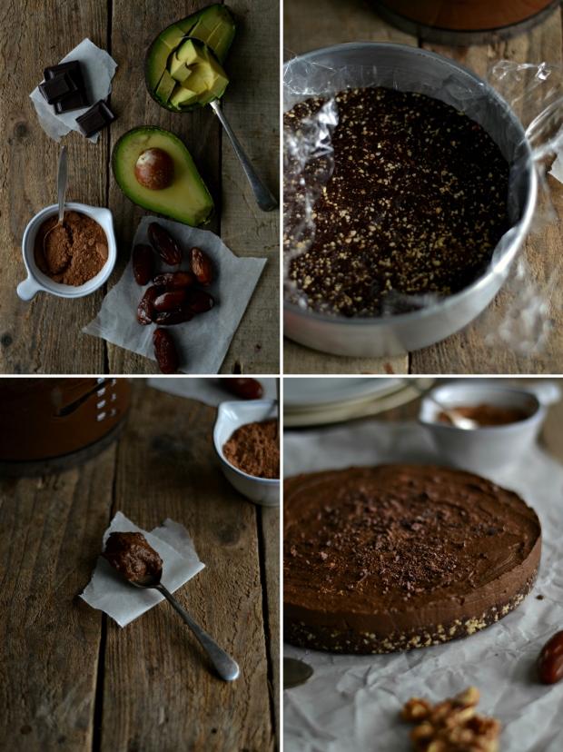Avocado mousse raw cake
