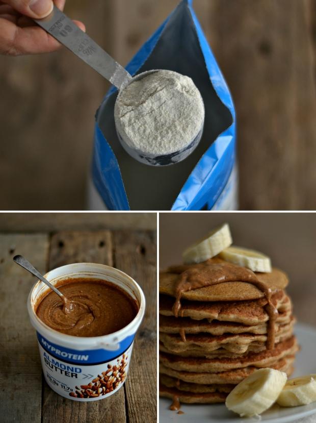 Almond butter buckwheat pancakes2