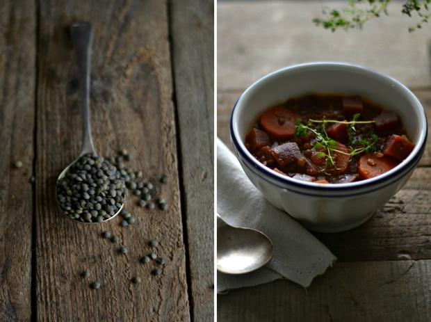 lentil beet stew