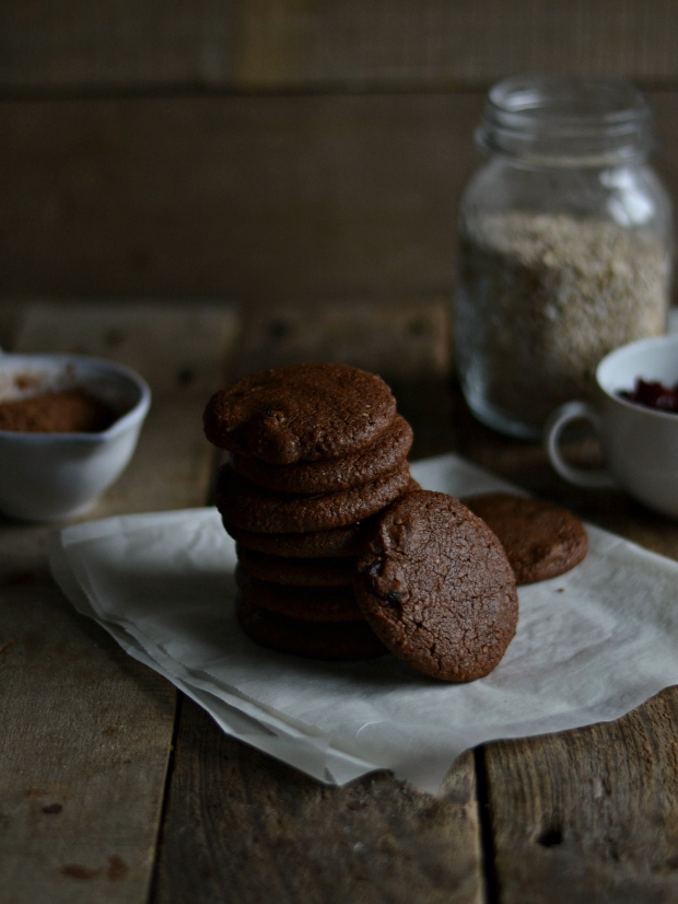 Chocolate cranberry cookies